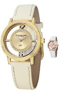 【送料無料】腕時計 スイスクオーツスワロフスキークリスタルセットストラップstuhrling womens 388l2 swiss quartz watch set swarovski crystals wextra strap