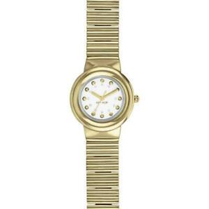 【送料無料】腕時計 ドナヒップホップメタリックゴールドスワロフスキーマニアorologio donna hip hop metallic mania hwu0698 acciaio gold dorato 32mm swarovski