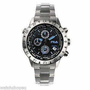 【送料無料】腕時計 フィラメンズクロノグラフ fila 38007004 mens chronograph watch 2 year warranty