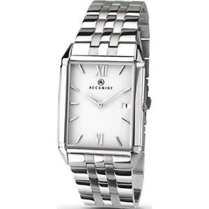 【送料無料】腕時計 ステンレススチールブレスレットウォッチスリムフィットaccurist 7031 gents stainless steel slim fit bracelet watch rrp 9999