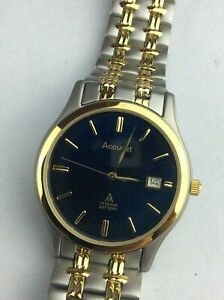 【送料無料】腕時計 スチールトーンメンズクオーツケースaccurist gold plated amp; steel two tone mens quartz watch mb278 cased