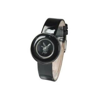【送料無料】腕時計 プレーボーイブラックレザーストラップレディスデザイナーファッションウォッチ