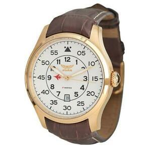 【送料無料】腕時計 シリーズメンズアナログクォーツブラウンレザーウォッチストラップaviator fseries avw1723g198 mens analog quartz watch brown leather strap