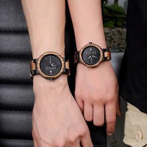 【送料無料】腕時計 ボボカップルレディスウオッチメーカーbobo bird bamboo wooden lover couple watches men show date ladies wristwatch
