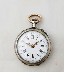【送料無料】腕時計 シルバーレディサイズポケットウオッチ