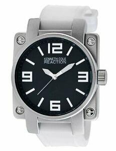 【送料無料】腕時計 ケネスメンズホワイトシリコンクオーツクビカkenneth cole reaction white silicone mens quartz watch rk1307