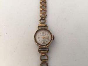 【送料無料】腕時計 ビンテージレディースゴールドケースルvintage ladies gold cased le cheminant 17 jewels incabloc watch *working order*