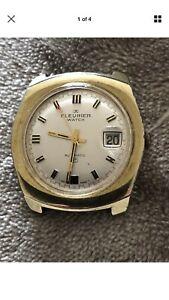 【送料無料】腕時計 ビンテージフルリエvintage gents fleurier automatic watch