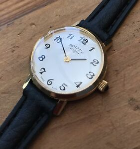 【送料無料】腕時計 ビンテージレディースロータリーvintage ladies rotary quartz gold plated wristwatch, great condition