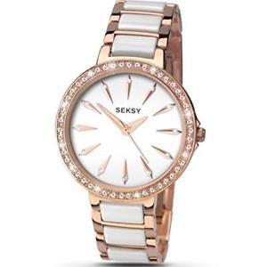 【送料無料】腕時計 レディースオーロラセラミックローズゴールドトーンウォッチseksy 2404 ladies aurora ceramic amp; rose gold tone watch rrp 9999