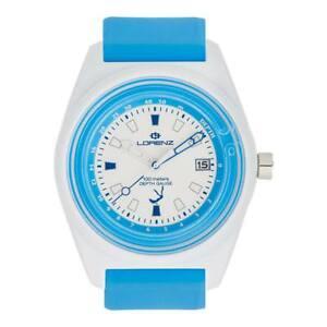 【送料無料】腕時計 シリコーンビアンコアッズーロサブメートルorologio lorenz 30033aa silicone bianco azzurro profondimento sub 100mt
