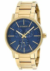 【送料無料】腕時計 エベレストメンズウォッチゴールドトーンeverest mens es30066 multi function watch gold tone blue