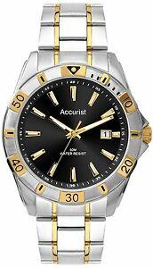 【送料無料】腕時計 メンズトーンステンレススチールaccurist mens two tone gold plated stainless steel watch mb854b rrp 8000