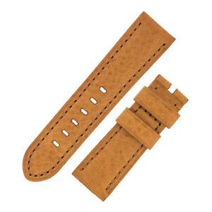 【送料無料】腕時計 ヴィンテージカーフゴールドブラウンオプションバックルスキンレザーウォッチストラップ