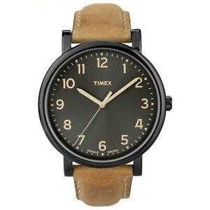 【送料無料】腕時計 サイズレザーストラップメンズオリジナルウォッチtimex mens originals oversized leather strap watch t2n677