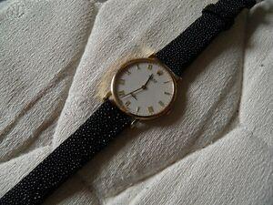 【送料無料】腕時計 ブレスレットチャットノワール14 mm luxueux bracelet en galuchat veritable naturel noir inhabituel surprenant