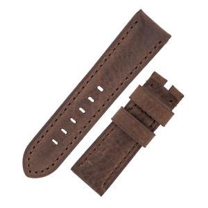 【送料無料】腕時計 ヴィンテージカーフブラウンオプションバックルスキンレザーウォッチストラップ