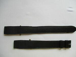 【送料無料】腕時計 ブレスレットノワールbracelet pour montre a anses fixes t 16 en cuir souple noir