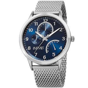 【送料無料】腕時計 シュタイナーインジケータースチールメッシュブレスレットmens august steiner as8230ssbu 24 hour indicator date steel mesh bracelet watch