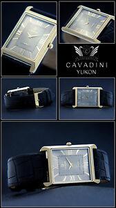 【送料無料】腕時計 デザイナーメンズlnglichehbscheipgold plattierte cavadini designer herren uhr