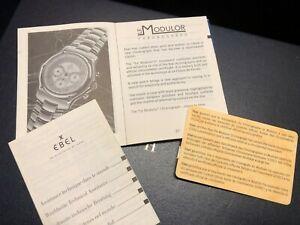 【送料無料】腕時計 カードebel le modulor instruction booklet and card