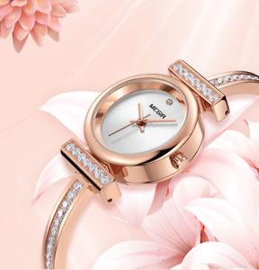 【送料無料】腕時計 ラグジュアリーレディースブレスレットレディースクォーツウォッチmegir luxury womens bracelet watch ladies quartz watch