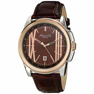 【送料無料】腕時計 ケネスセールブラウンレザーストラップウォッチチェココルナkenneth cole half  brown leather strap watch kc8096
