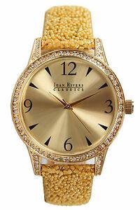 【送料無料】腕時計 ビーズストラップジョアンリバースクラシックスコレクションゴールドトーンウォッチjoan rivers classics collection womens goldtone watch with yellow bead strap