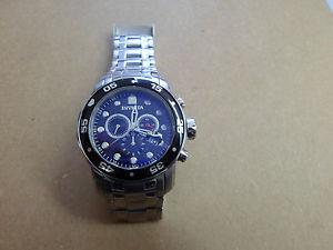 【送料無料】腕時計 プロダイバークロノグラフブラックシルバートーン