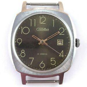 【送料無料】腕時計 ビンテージロシアソスラゼンマイvintage russian soviet slava windup watch 1980s serviced *us seller* 1365