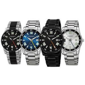 【送料無料】腕時計 #クォーツマルチファンクションステンレススチールブレスレットmen039;s akribos xxiv ak1055 quartz multifunction stainless steel bracelet watch