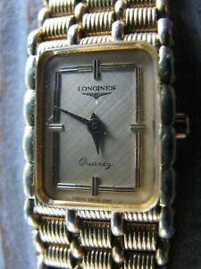 【送料無料】腕時計 ビンテージスイスvintage longines womens rectangular wristwatch, gold, quartz mz25713 swiss 0961