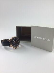 【送料無料】腕時計 ミハエルクロノグラフブラックレザーウォッチストラップ