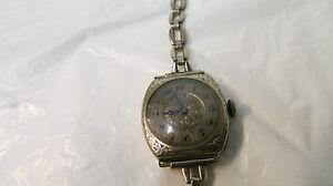【送料無料】腕時計 ヴィンテージレディースkホワイトゴールドケースvintage hallmark 15 jewels ladies wrist watch ~ 18k filled white gold case