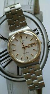 【送料無料】腕時計 ビンテージメンズエルギンクオーツbeautiful vintage mens elgin quartz wrist watch