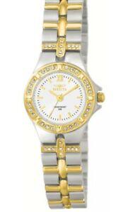 【送料無料】腕時計 ラウンドホワイトアナログローマクリアウォッチinvicta 0133 womens round white analog clear stone roman numeral watch