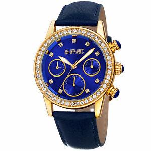 【送料無料】腕時計 シュタイナーストラップwomens august steiner as8236bu multifunction 24 hour indicator date strap watch