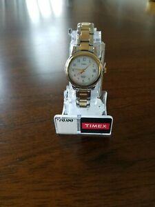 【送料無料】腕時計 シルバーゴールドトーンデザインtimex t25771 wrist watch for women silver and gold tones design