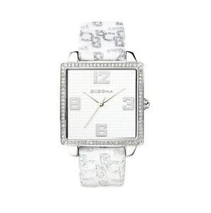 【送料無料】腕時計 クリスタルアクセントホワイトファブリックドルウォッチbcbg girls crystal accented white fabric watch gl2025 200
