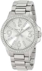 【送料無料】腕時計 ジューシークチュールシルバーステンレススチールクリスタルベゼルウォッチjuicy couture 1900958 jetsetter silver tone stainless steel crystal bezel watch