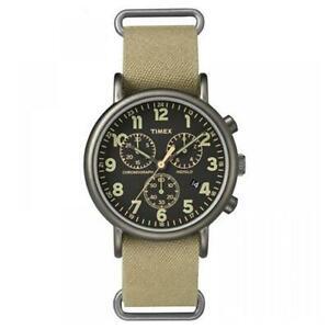 【送料無料】腕時計 ダベージュクロノヴィンテージtimex orologio da polso maschile weekender tw2p85200 tela beige chrono vintage