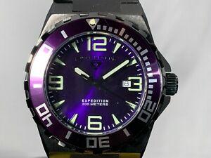【送料無料】腕時計 スイススイスクオーツシリコンストラップパープルウォッチswiss legend purple 47mm expedition swiss quartz date silicone strap watch