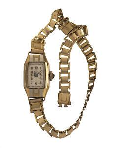 【送料無料】腕時計 アールデコアルジェントancienne montre de femme art dco en vermeil or et argent vers 1920
