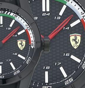 【送料無料】腕時計 フェラーリモデルアンプリビジョンタグスクーデリアメンズレッドブラック