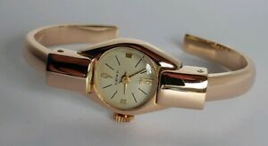 【送料無料】腕時計 プラークkゴールドメッキmontre dame plaqu or 18k rvise lady watch gold plated serviced