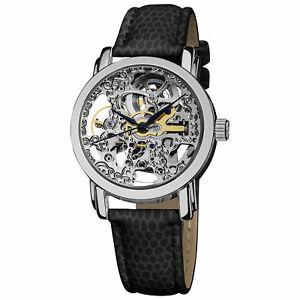 【送料無料】腕時計 ステンレススチールスイスオートマチックスケルトンウォッチakribos xxiv womens ak431ss stainless steel swiss automatic skeleton watch