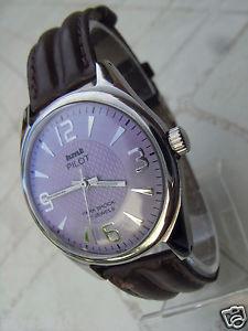 【送料無料】腕時計 パイロットブレスレットヌフhmt pilotwft040704,montre mecanique de 17 rubis feminine mauve au bracelet neuf