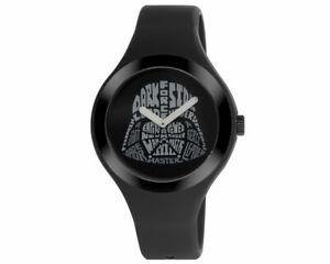 【送料無料】腕時計 スターウォーズブラックシリコンストラップケースダースベイダーロゴ