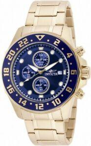 【送料無料】腕時計 メンズクロノグラフイエローゴールドブレスレットinvicta 15942 mens specialty chrono yellow gold bracelet watch