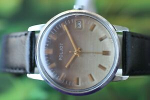 【送料無料】腕時計 ビンテージ#ロシアvintage men039;s big russian poljot watch 17 jewels with date